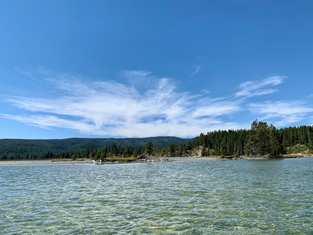 Shoshone Lake, Yellowstone. Photo by H.L.Wilkins